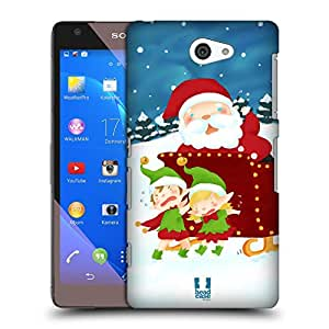 Head Case Designs Sleigh Santa's Misadventures Protective Snap-on Hard Back Case Cover for Sony Xperia Z2a D6563