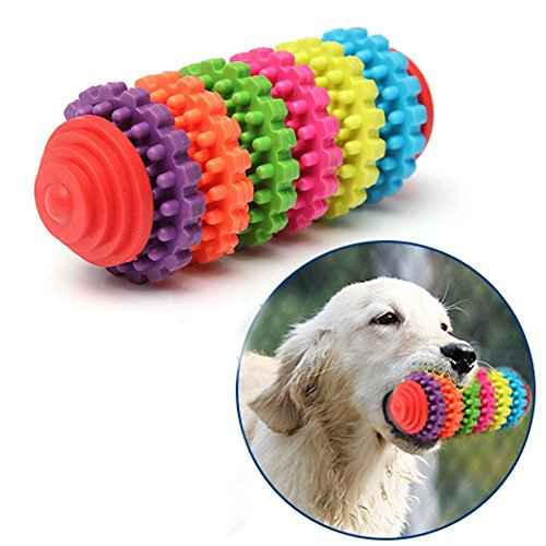 2' Bouncy Ball (Pet Chew Toys- Toy for Dogs - Dental Treat, Bite Resistant, Non-Toxic Strong Tooth Cleaning Dog Toy Balls for Pet Training, Playing, Chewing - Soft Rubber, Bouncy, Tennis Ball (6 Color))