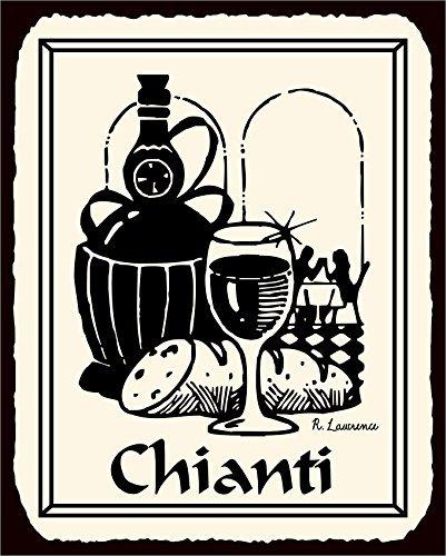 Chianti Wine Vintage Metal Sign Italian Restaurant Bar Retro Aluminum Metal Sign 12X18 Inches