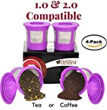 keurig k cups pitcher - 4 Reusable K Cups for Keurig 2.0 & 1.0 Coffee Makers. Universal Refillable KCup. Reusable kcup, k cup k-cups reusable filter, keurig filter by Delibru