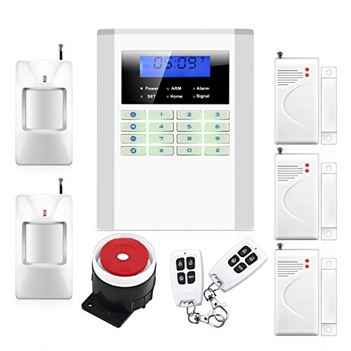 Wireless Quad-band GSM SMS Alert Security Door Gate Motion Burglar Alarm System Kit