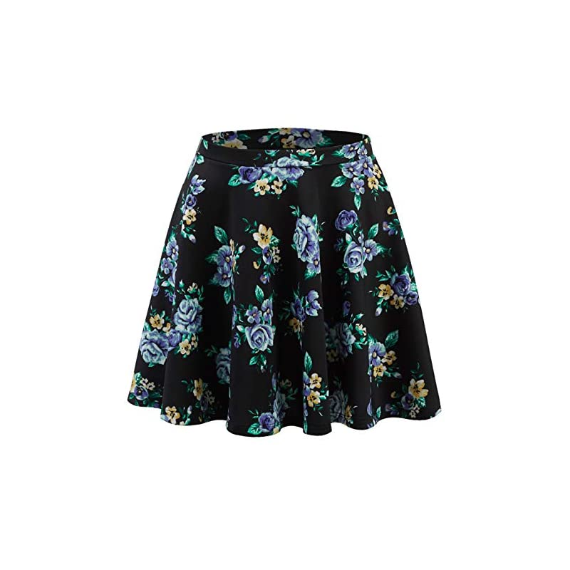 187e3fa67b Made By Johnny Women's Basic Versatile Stretchy Flared Casual Mini Skater  Skirt XS-3XL Plus Size-Made in USA