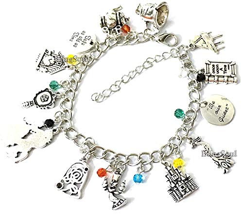 Blingsoul Beauty Belle Charm Bracelet Jewelry - Beast Emma Watson Costume Merchandise Gifts