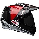 Bell Berm Adult MX-9 Adventure Off-Road Helmet - Black/White/Red / Medium