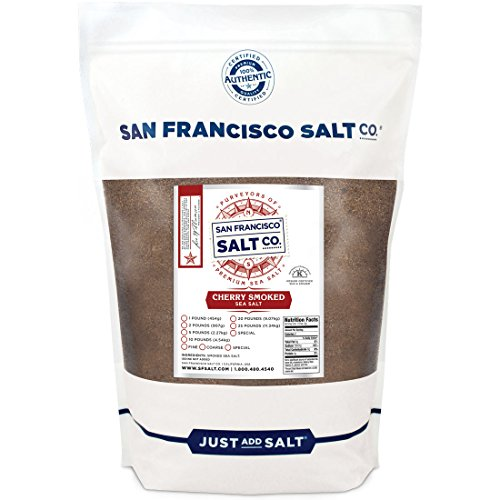 Cherrywood Smoked Sea Salt (2lb Bag - Fine Grain) by San Francisco Salt Company