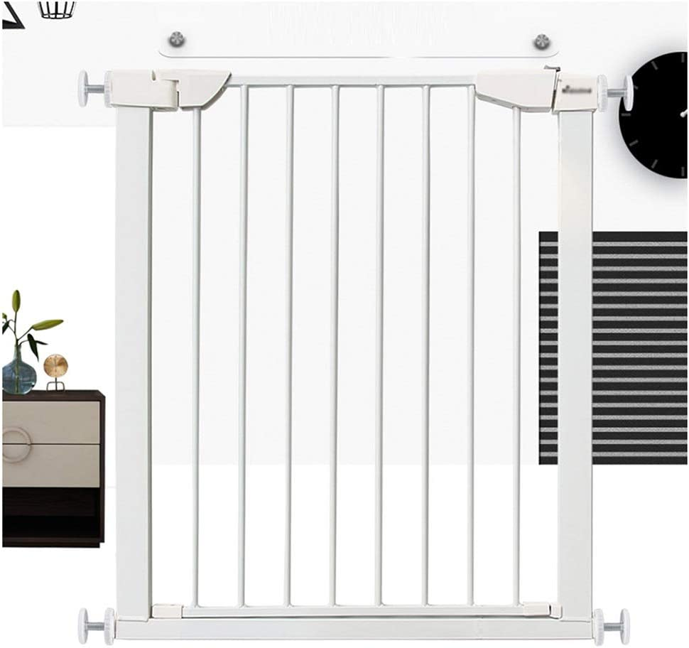 ZEMIN Barrera De Seguridad Escalera Puerta For Niños Perros Golpe Gratis Cierre Automático Aislamiento Corredor Interior Proteccion, H90CM (Color : White, Size : Width 138-145cm): Amazon.es: Hogar