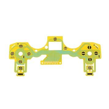 Sharplace Parte de Reparación de Teclado Película Conductora para Controlador de Juego Sony Dualshock 4 Ps4 Color Amarillo: Amazon.es: Electrónica