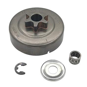 Shioshen 3/8 6T Embrague batería Piñón Arandela E-Clip para STIHL Motosierra 017 018 021 023 025 MS170 MS180 MS210 MS230 MS250 Recambio Nº 1123 640 2003: ...