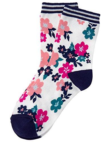 Gymboree Girls' Little' Crew Sock, floral, -