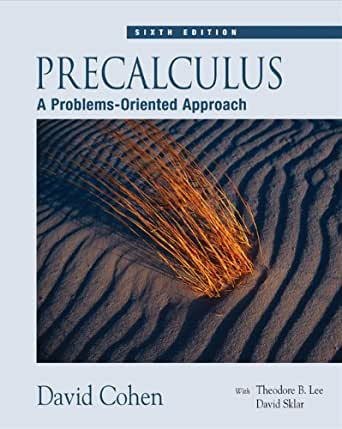 Precalculus An Investigation of Functions (2nd Ed)