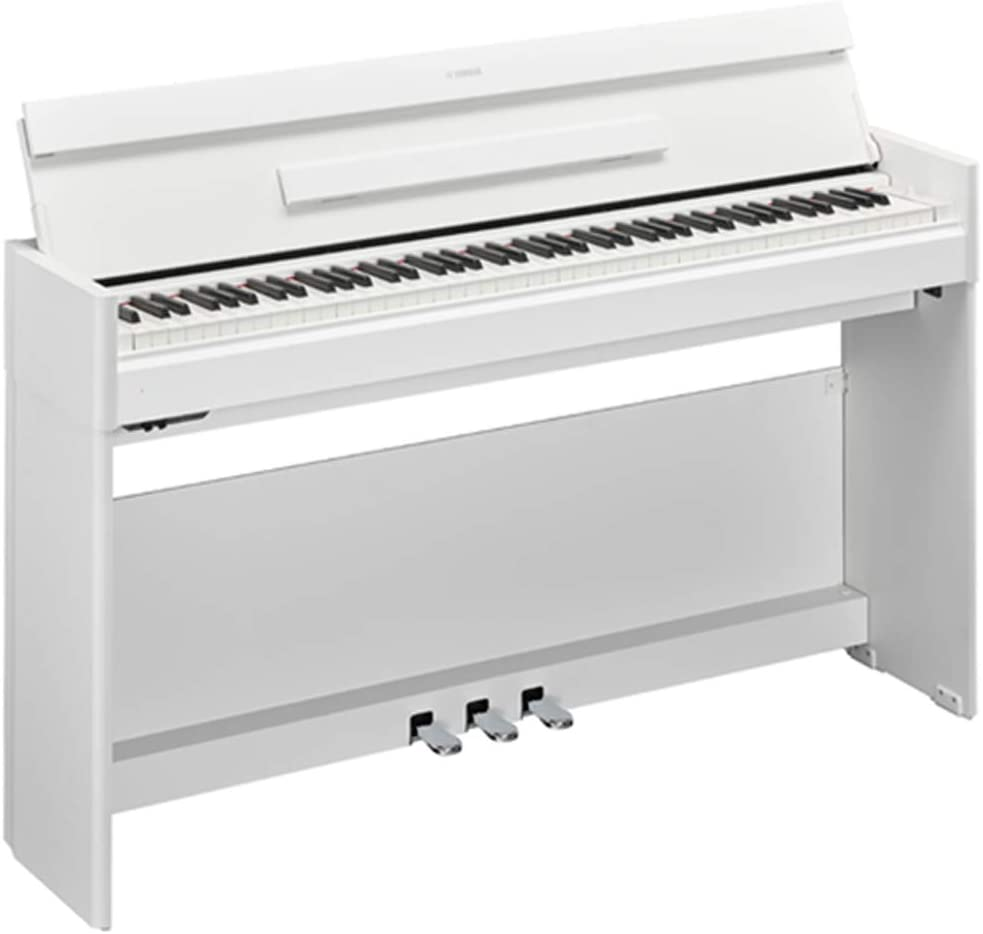 Yamaha YDPS54WH White Walnut weighted action console digital piano with BC108WH White Bench 88-note