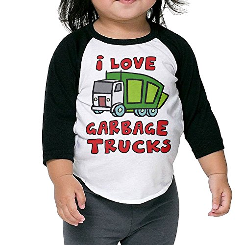 PHINP I Love Garbage Trucks Middle Sleeve University Bottoming Shirt For Children (Party City In Asheville Nc)