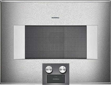 Gaggenau – Horno (integrado combinado a microondas BM 454 110 con bisagras a derecha acabado
