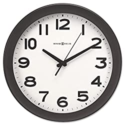 Howard Miller 625485 Kenwick Wall Clock, 13-1/2, Black