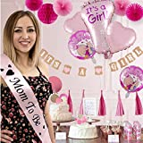 stand up shower ideas Baby Shower Decorations for Girl, Its a Girl All in One Set Party Garland Supplies Kit for Birthday, BabyShower & Party Favors, Incl Banners, Balloons, Paper Fans, Tassels, Greeting Cards, 31 PCS