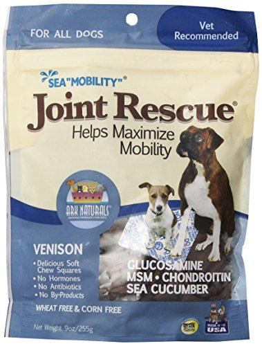 PIE TREATS 326054 Sea Mobility Venison Jerky Strips for Pets, 9-Ounce (Sea Squares Jerky)