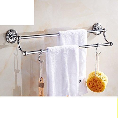 Brass double bar Towel rack/Bathroom Towel Bar/Towel Bar/towel rack/punch-free towel bar-B 85%OFF