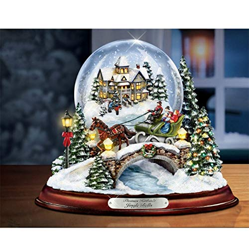 CRPSEN Diamond Embroidery Painting 5D DIY Diamond Cross Stitch Painting Number Kit Wall Décor, Christmas Snow Scene Glass Ball(29X19CM/11.4X7.5inch) ()
