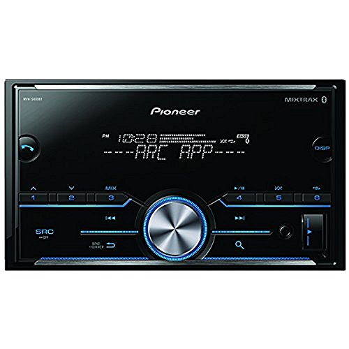Pioneer Double DIN Car Receiver With Bluetooth -  MVHS400BT