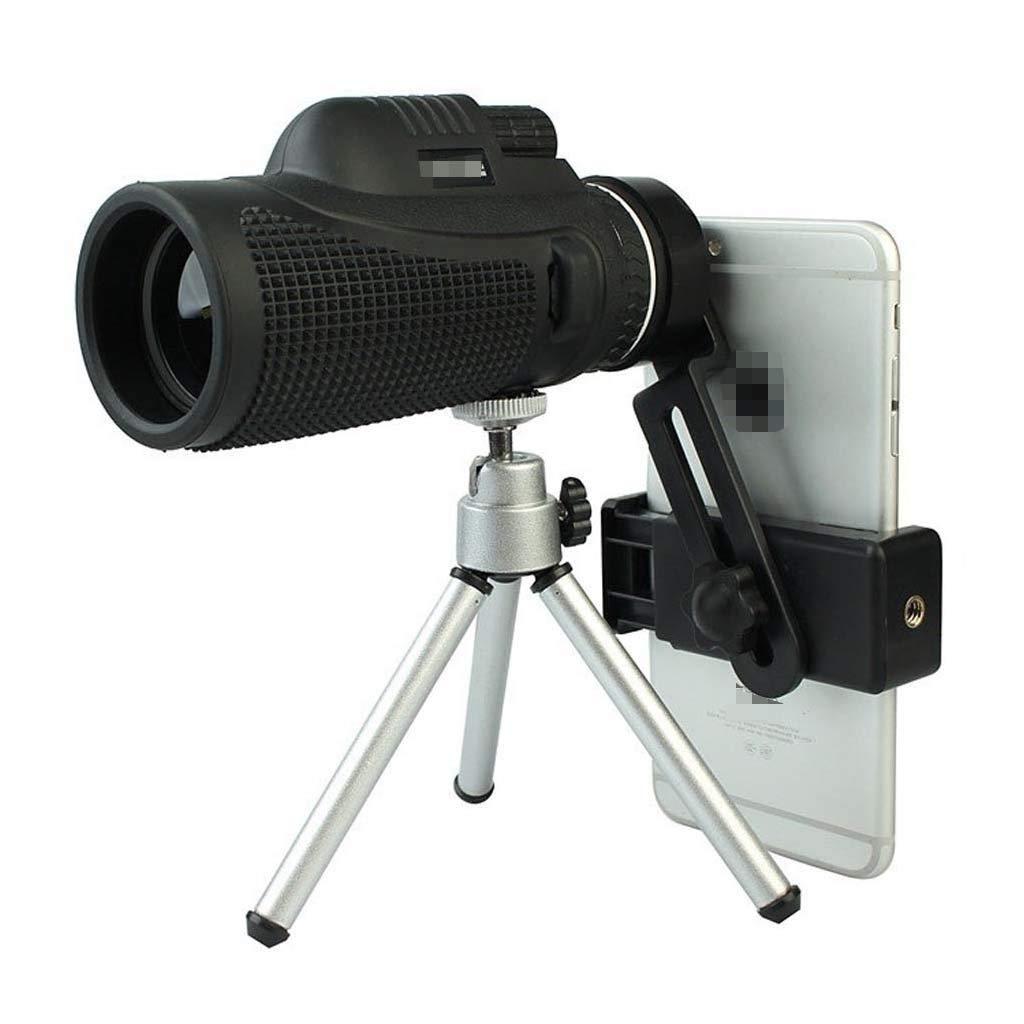 Color : Black, Size : A OLLVU 40x60 De Alta Potencia De Un Solo Cilindro Telescopio De Mano HD Telescopio De Alta Potencia con Soporte De Tel/éfono Inteligente