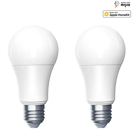 Aqara Zigbee Smart LED Bombilla ajustable brillo y temperatura de color lámpara inteligente Siri Voice Control