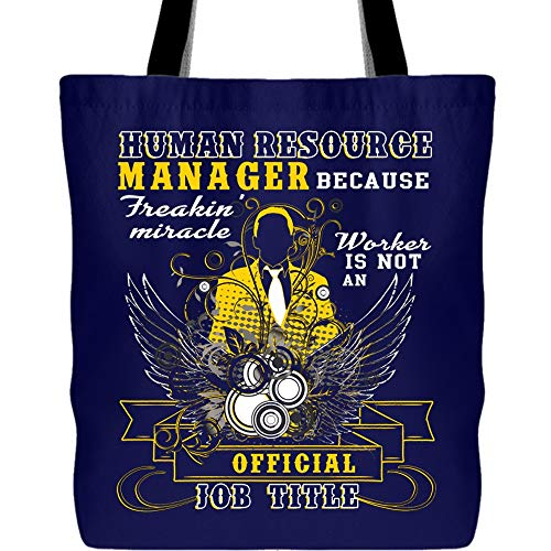 Human Resource Manager Tote Bags, Being A Human Resource Manager Canvas Tote Bags (Tote Bags - Navy) ()