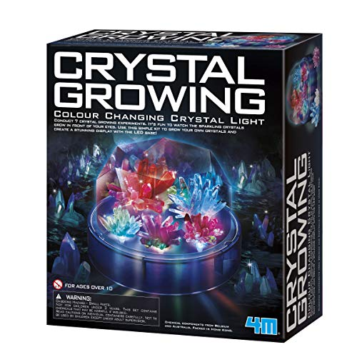 4M Crystal Growing Color Changing LED Light Kids Science Kit