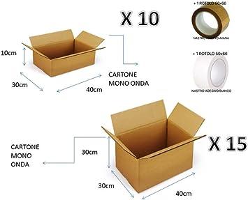 Kit de 25 cajas de correo electrónico: 15 cajas de cartón medianas ...