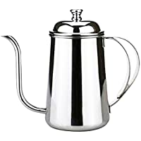 650ml Elegant Stainless Steel Gooseneck Spout Kettle Long Mouth Drip Coffee Tea Pot Teapot Kettle for Home Office Silver