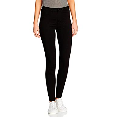 90565697a30b51 PIECES Damen Hose Pcjust Wear 5 Poc. H.w. Legging/Blc Noos, Schwarz ...