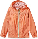 Columbia Big Girl's Switchback Rain Jacket, Bright Peach, L