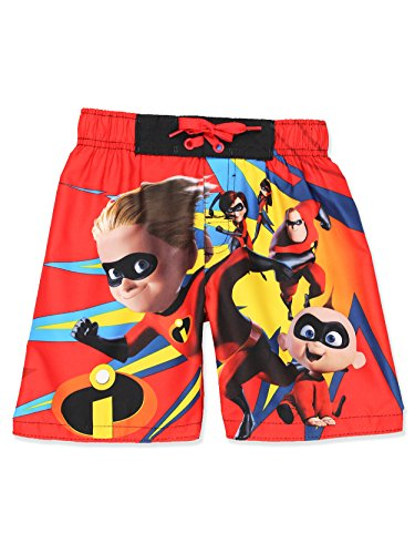 Disney The Incredibles 2 Boys Swim Trunks Swimwear (5-6, Red/Multi)