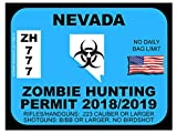 Nevada Zombie Hunting Permit(Bumper Sticker)