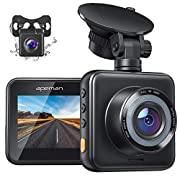 #LightningDeal APEMAN Dual Dash Cam for Cars Front and Rear with Night Vision 1080P FHD Mini in Car Camera 170° Wide Angle Driving Recorder with G-Sensor, Parking Monitor, Loop Recording, WDR