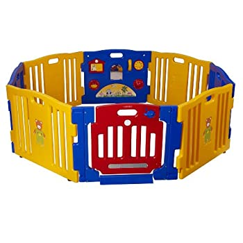 Image of Baby Baby Diego Cub'Zone Playpen and Activity Center, Yellow/Blue/Red