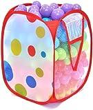 300 Non-Toxic Crush Proof Play Balls w/ Polka Dot Hamper: 10 Colors 5.5 cm