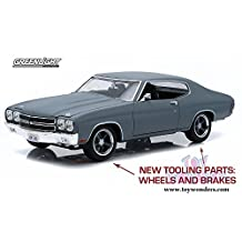 12946 Greenlight Fast & Furious 2524010316a - Dom's Chevrolet Chevelle SS 7023mu5e Hard Top (1970, 1/18 scale diecast model car, Grey) 12946 diecast car model 12946 Greenlight