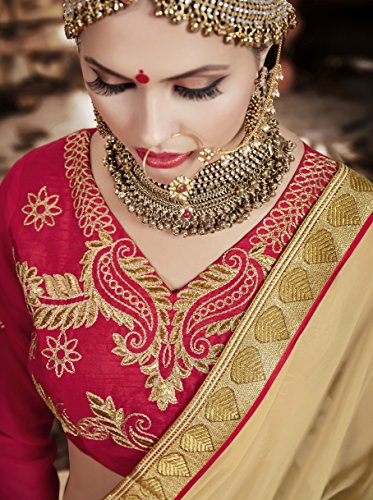 IWS Womens Pink Striking Lehenga Choli With Embroidery Lace Work 80047