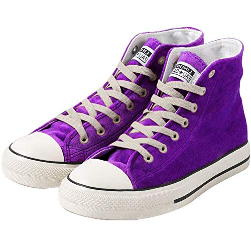 - JUSTFASHIONNOW Womens Girl Canvas Shoes Lace-Up Suede Sneaker Hight Top Fashion Walking Shoes Platform Athletic Round Toe Comfy Ankle Boots - Purple 38
