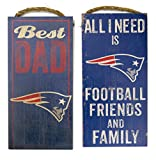 New England Patriots Worlds best dad, Wall plaques, set of 2 for dad on Father's Day.