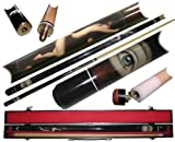 2 Piece Hardwood Lady Design Pool Stick Cue - With Carrying Case!