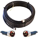 Wilson Electronics 50 ft. Black Wilson400 Ultra Low Loss Coax Cable (N-Male to N-Male)