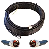 WIRELESS_ACCESSORY  Amazon, модель Wilson Electronics 50 ft. Black Wilson400 Ultra Low Loss Coax Cable (N-Male to N-Male), артикул B0018PVVBS