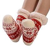 iLXHD Women Cotton Socks Slipper Thicker Fleece-lined Anti-slip Floor Carpet Novelty Hosiery