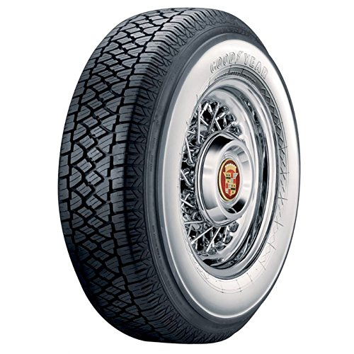 """Eckler's Premier Quality Products 57-131285 Chevy Tire, P205/75R14, B.F. Goodrich Silvertown Radial, With 2-3/8"""" Whitewall,"""