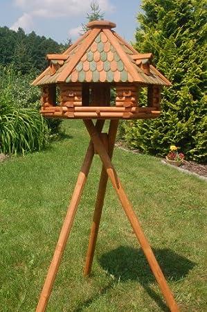 Deko Shop Hannusch Xxl Massives Luxus Vogelhaus Vogelhauser Impragniert Mit Stander Vogelfutterhaus Mit Futtersilo Silo