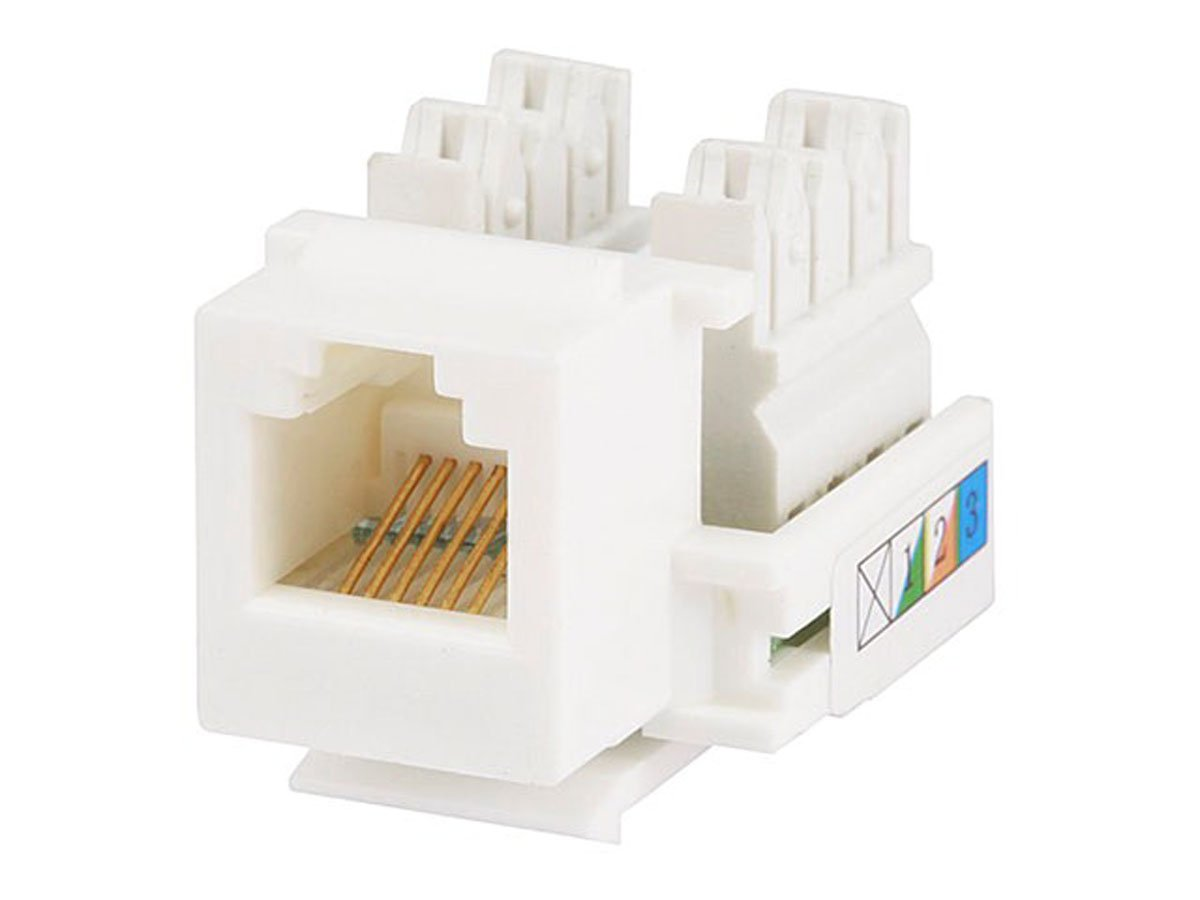 Amazon.com: Monoprice RJ-12 110 Type 90 Keystone Jack, White (107296): Home  Audio & Theater