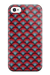 Fashion Tpu Case For Iphone 4/4s- Bright Triangles Pattern Defender Case Cover
