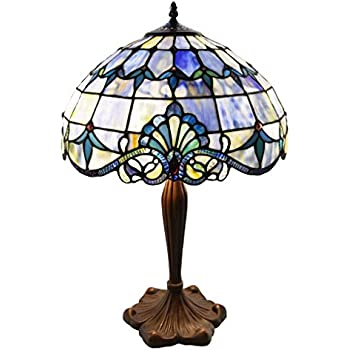 Amazon tiffany style stained glass table lamp 24 inch tiffany style stained glass table lamp 24 inch victorian style colorful allistar accent lamp with aloadofball