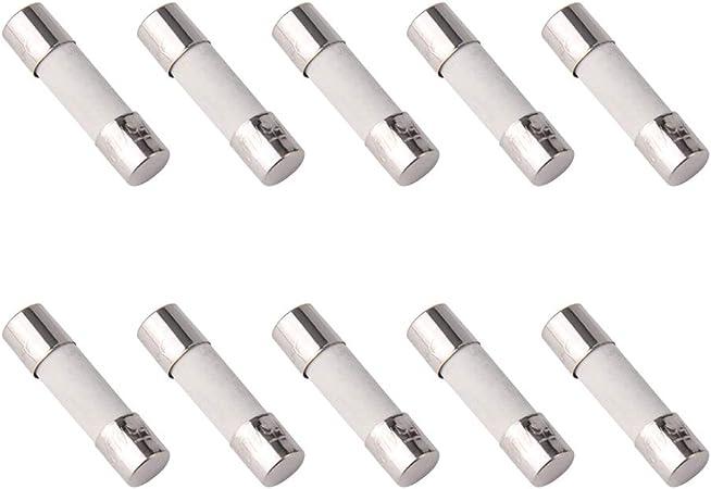 2A 2amp pack of 10 pcs T2a 2A 250V ceramic fast-blow fuse 30 x 6 mm